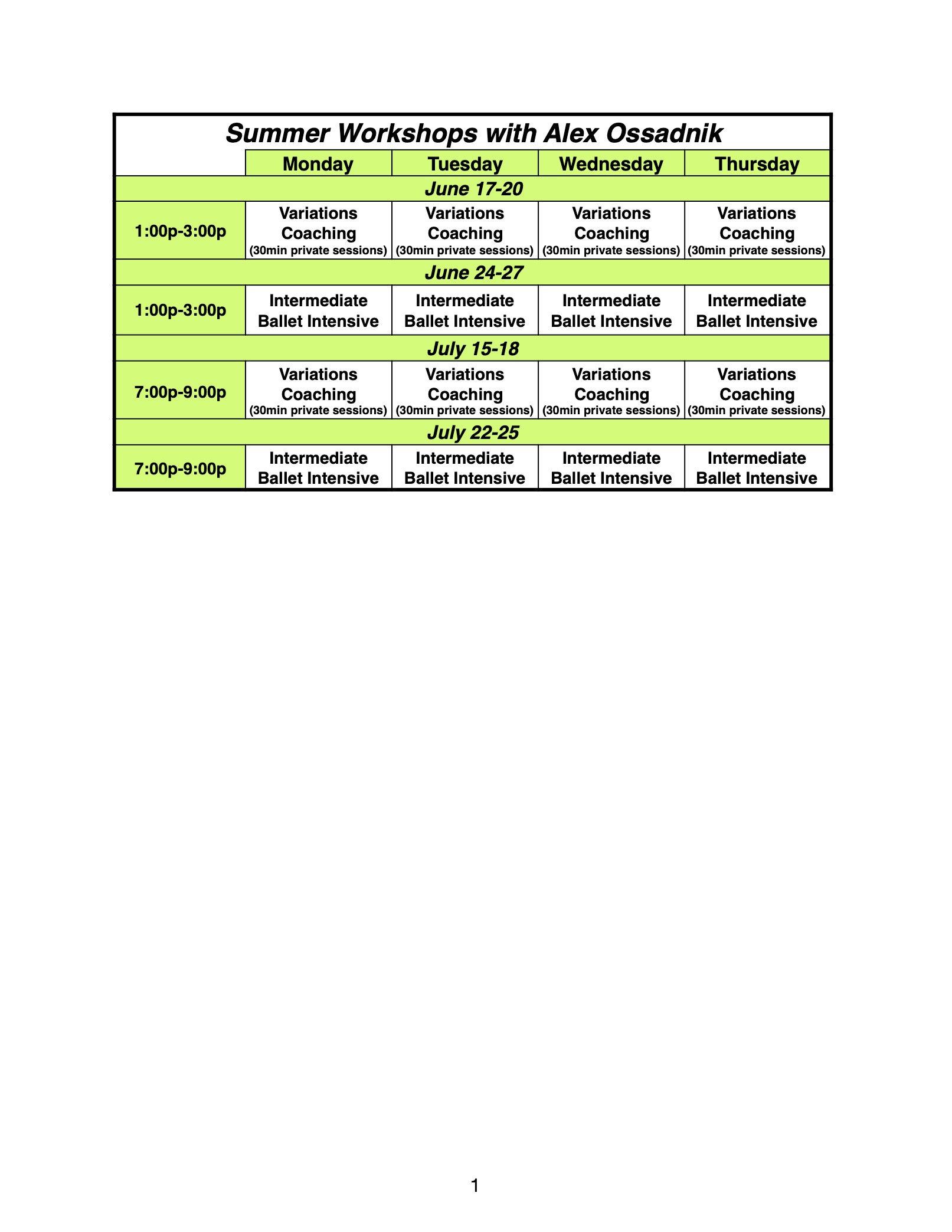 green classes
