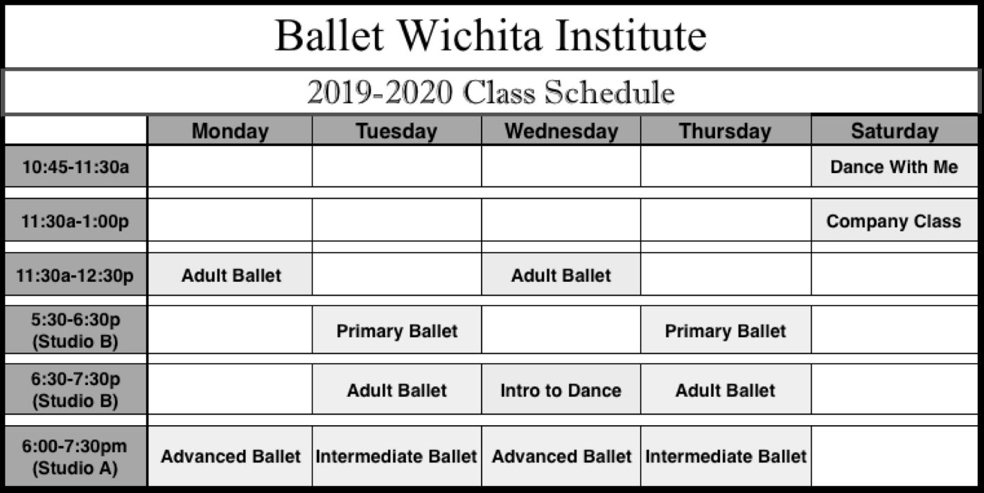 BWI Classes 2019 2020